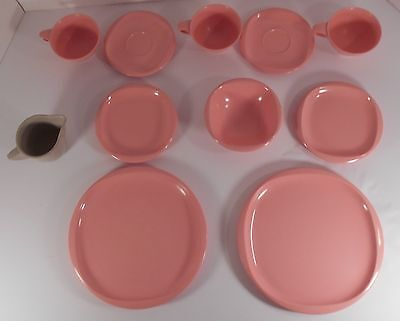 Boontonware 11 Mid Century Modern Pink 1 Gray Boonton NJ Ware Melmac Dishes