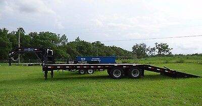 2017 Load Max 25 Ft. Low Profile Gooseneck Trailer, Ramps, Loaded, Brand New!