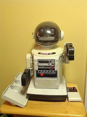 Vintage Robie Sr Robot w/ Remote & Tray - Radio Shack - Untested