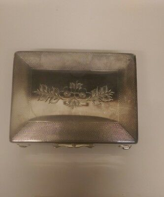 VINTAGE SILVER PLATE CIGARETTE/JEWELERY BOX by Harman Brothers Aristocrat Brand