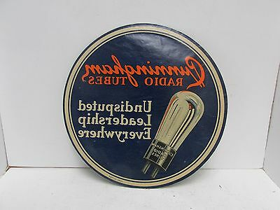 Vtg Cunningham Radio Tubes Window Sticker Decal 6 Inches - Free Shipping