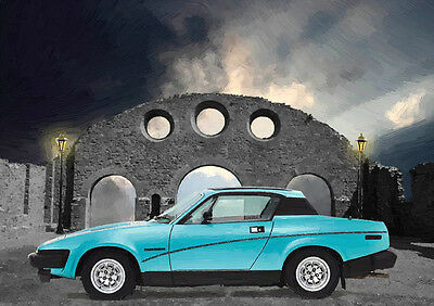 Automotive Art - Triumph Tr7 - Hand Finished, Limited Edition (25)