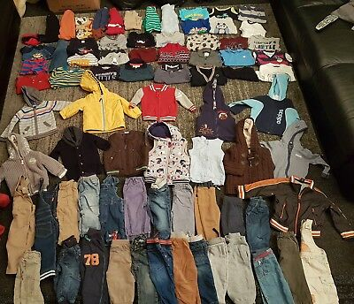 baby boys 9-12 months clothes bundle 80 items