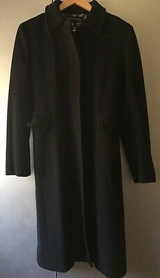 GUC KENNETH COLE Women's Wool/Cashmere Jacket Coat Black Size 4 Small!