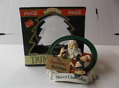 Coca-Cola Trim A Tree Collection Ornament 1956 Santa With Painting Elf W/ Box