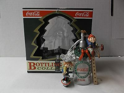 "Coca-Cola Bottling Works Collection Elf Ornament ""seltzer Surprise"" W/ Box"
