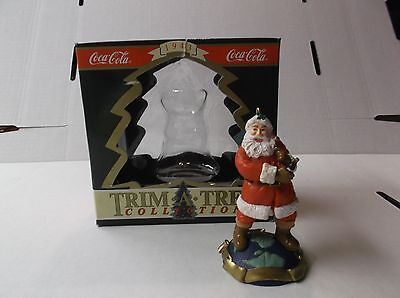 Coca-Cola Trim A Tree Collection Ornament 1943 Santa Travel Refreshed W/ Box