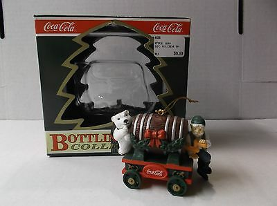 "Coca-Cola Bottling Works Collection Elf Ornament ""barrel Of Bears"" W/box"