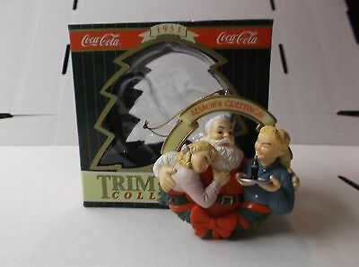 Coca-Cola Trim A Tree Collection Ornament 1953 Santa Pause That Refreshes 1996