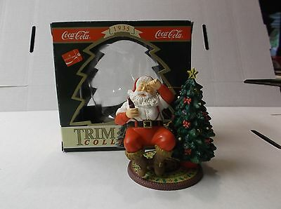 Coca-Cola Trim A Tree Collection Ornament 1935 Santa Decorating Tree W/ Box