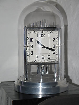 Superbe et rare horloge BULLE CLOCK Art Deco chrome et verre clock collection