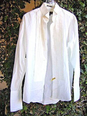 Man's formal white SHIRT, size 16  32/33 ; other uses Vampire Halloween costume