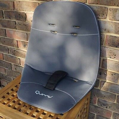 Quinny Buzz 3/4 1st Stage Seat Unit Cover Memory Foam Grey Black