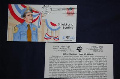 Shield & Bunting Variable Rate 32c Stamp FDC Pugh HP Cachet Sc#CVP33 96-011A