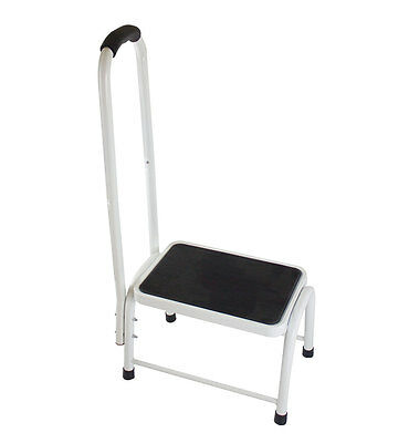 Step Stool Non Slip Platform Grip Hand Rail Support Handle Disability Mobility