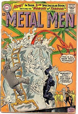 Metal Men # 2 Beautiful Cover art Silver Age Comic Book.........................