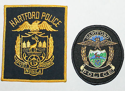 HARTFORD POLICE Connecticut Capital City PD patch set CT