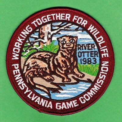 Pa Penna Pennsylvania Game Commission WTFW 1983 Otter REPRODUCTION patch