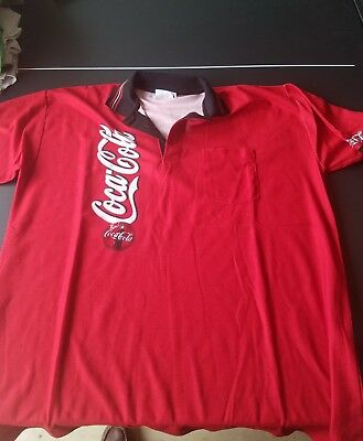 authentic coca cola employee polo shirt, size xl