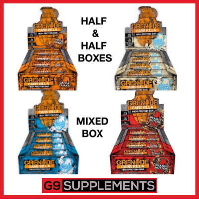 GRENADE CARB KILLA MIX BARS HIGH PROTEIN HALF & HALF BOXES & MIXED BOX 6/12x60g
