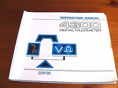 Racal Dana 4300 Digital Multimeter Instruction Manual