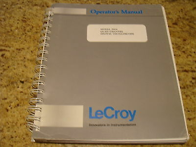 LeCroy 9414 Quad Channel Digital Oscilloscope Operator's Manual