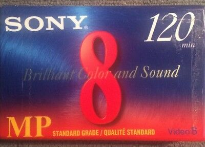 New Sealed Sony 120 MP 8mm Video Cassette Standard Grade P6-120MPD