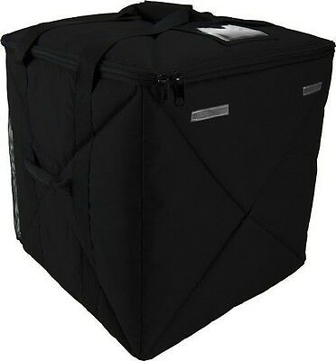 "Case of 2 OvenHot Black Large Top Loading Delivery Bag holds 16""/ 18"" Pizzas NEW"