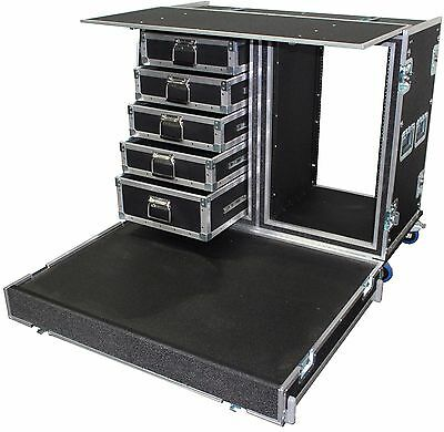 Work Station With Platform - (Customizable) Heavy Duty Road Case Made In U.S.A