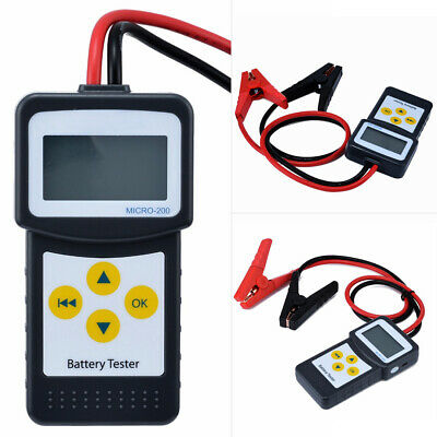 1Set 12V Digital Car Battery Tester Vehicle Battery Analyzer AGM GEL MICRO-200