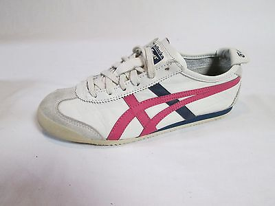 Asics Onitsuka Size 7 Hl474 Mexico 66 Women's Athletic Shoes White, Blue, Pink