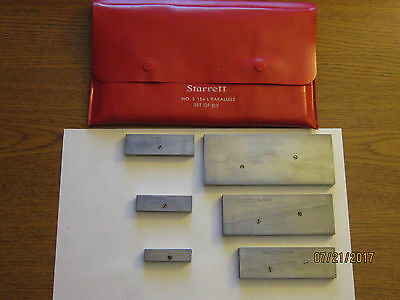 STARRETT S 154 L ADJUSTABLE PARALLELS SET OF 6 (((no engravings)))