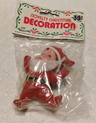 Vintage Santa Claus Christmas Ornament Novelty McCrory Corporation