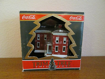 Coca Cola Trim A Tree Ornament The Pemberton House 1991 Coke