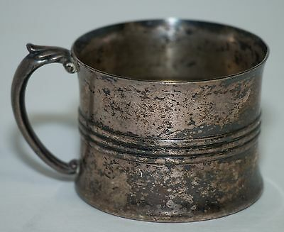 Vintage Poole Silver Co. Silverplate Baby Mug Cup #7410