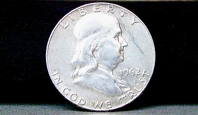 1962-D Franklin Silver Half Dollar About Uncirculated? Condition No Reserve