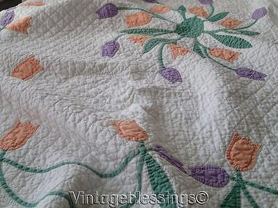 Incredible Quilting! Marie Webster Windblown Tulips Applique QUILT Antique c1910