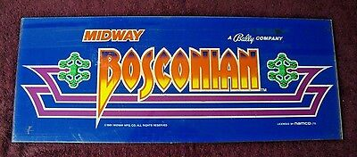 Arcade Bally/midway Bosconian Marquee Used 1 Pc.