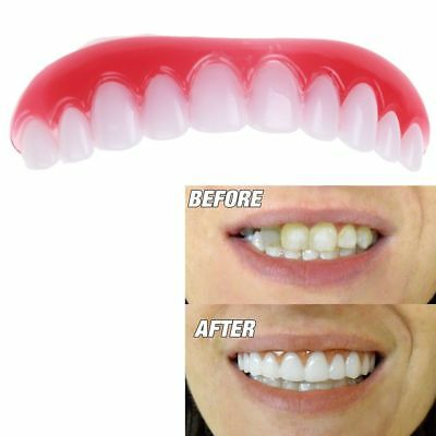 5x Instant Smile Comodidad Fit Flex Dientes Top Cosmetic Veneer One Size Fit All