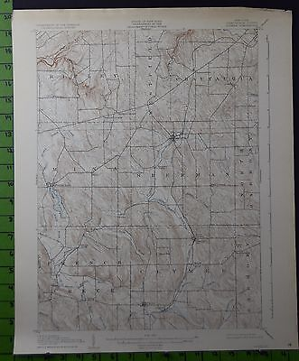 Clymer New York Antique Topographic Map 1930 16x20 Inches