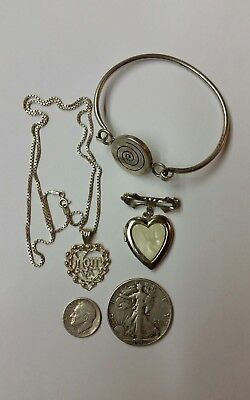 us silver coins and silver jewelry