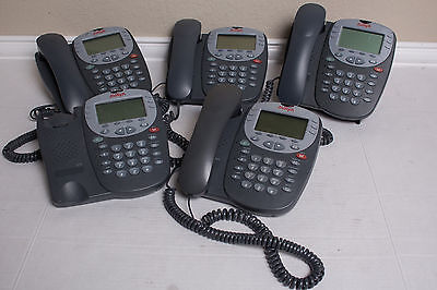 Lot of (5) Avaya Digital 12 Button 5410 VOIP Office Telephone