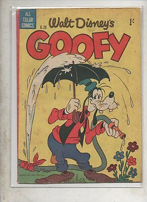Walt Disney Comics  'goofy'  G.29    1953  By W.g Publications   Fine