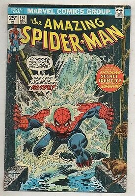 THE AMAZING SPIDER- MAN   No  151  by MARVEL   FINE  1975