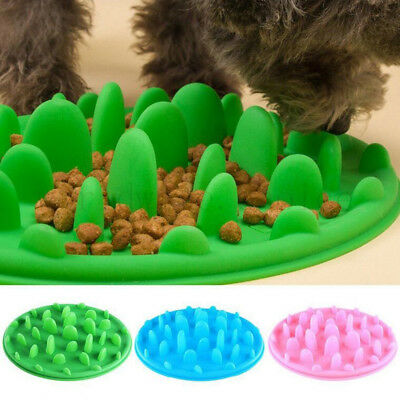 Colorful Silicone Pet Cat Dog Slow Feeder Bowl Gulp Bloat Water Bowl Feed Dish