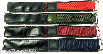 18mm 20mm TOUGH NYLON EASY FASTEN SPORT QUALITY WATCH STRAP BAND and PINS