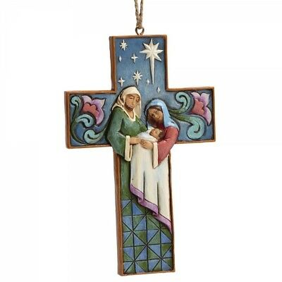 Heartwood Creek by Jim Shore Holy Family Cross Hanging ornament