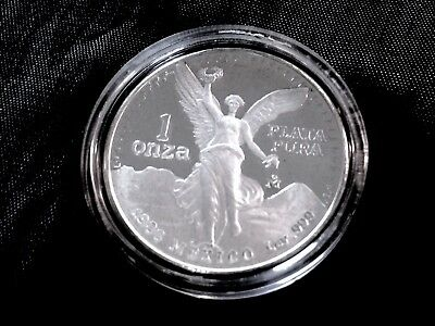 1986 Mexican Libertad 1 oz Fine Silver Proof Coin