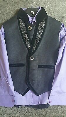 Boys Suits 4 Piece Waistcoat Suit Wedding Page Boy Baby Formal Party 5-6years