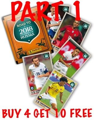 Panini Road To 2018 Fifa World Cup Russia Single Stickers (2017)Buy 3 Get 6 Free